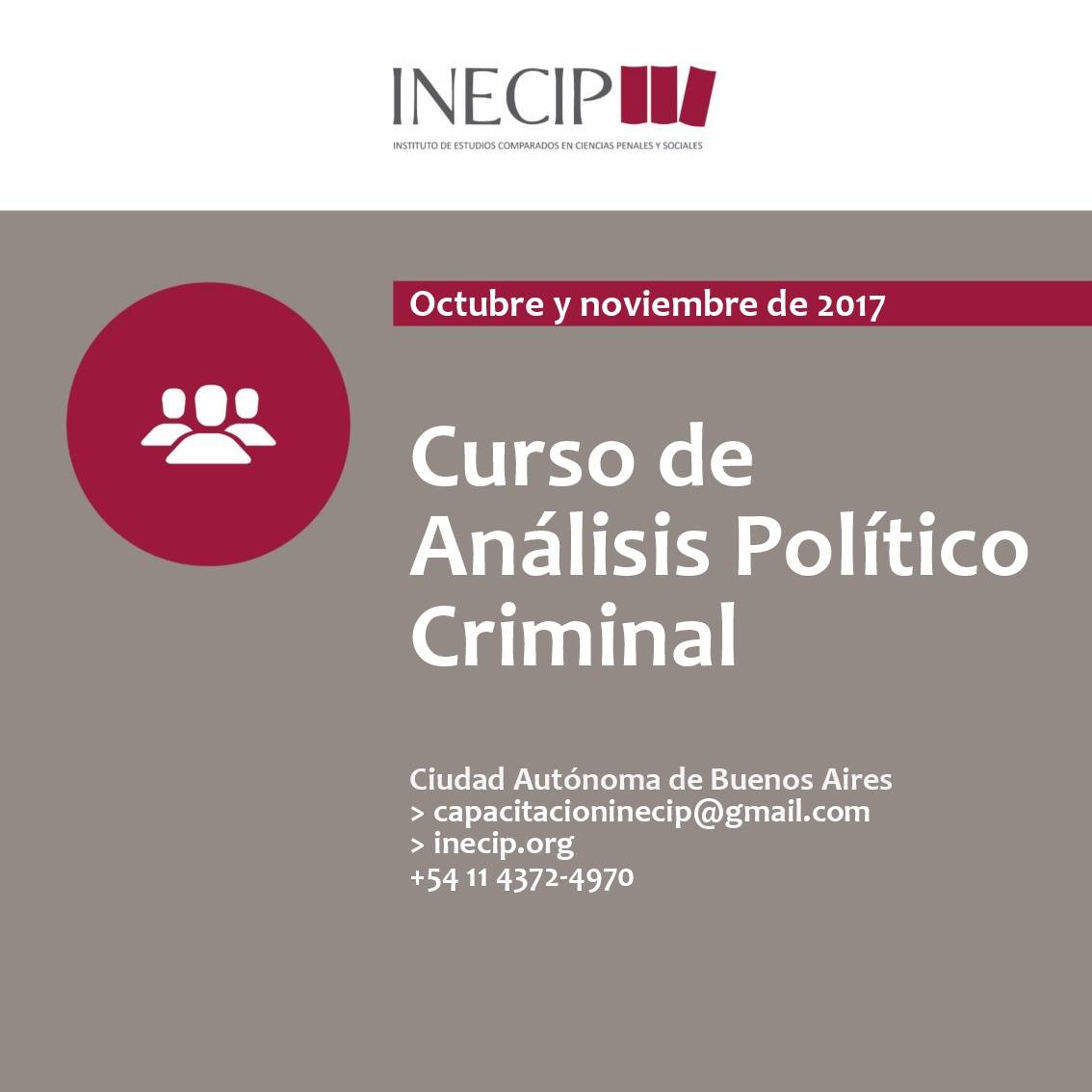 Curso de Análisis Político Criminal
