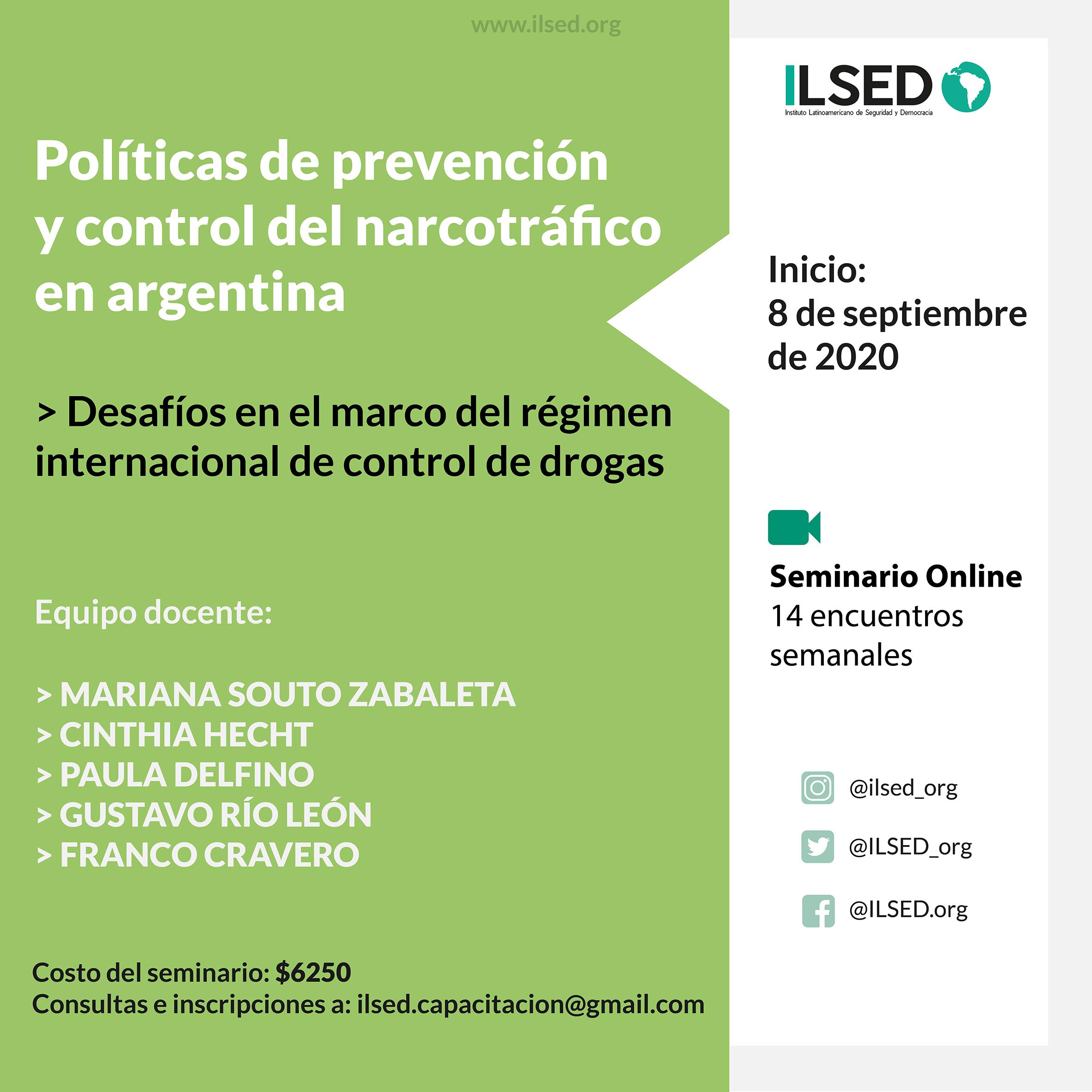 Políticas de prevención y control del narcotráfico en Argentina